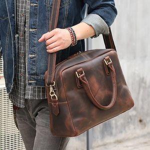 Other - Men's Vintage Leather Briefcase/Messenger Bag
